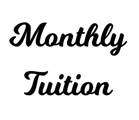 Monthly Tuition (sibling rate)