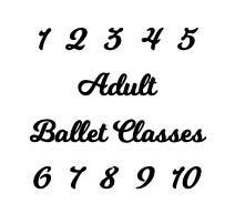 Adult Ballet 10-class Punch Card