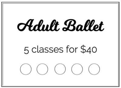 Adult Ballet 5-class Punch Card