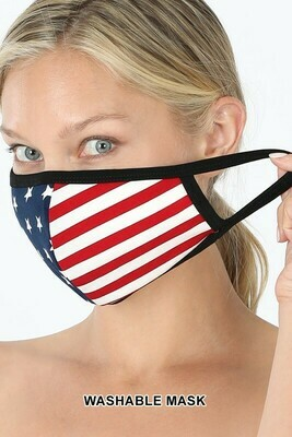 Zenana American Flag Print Mask