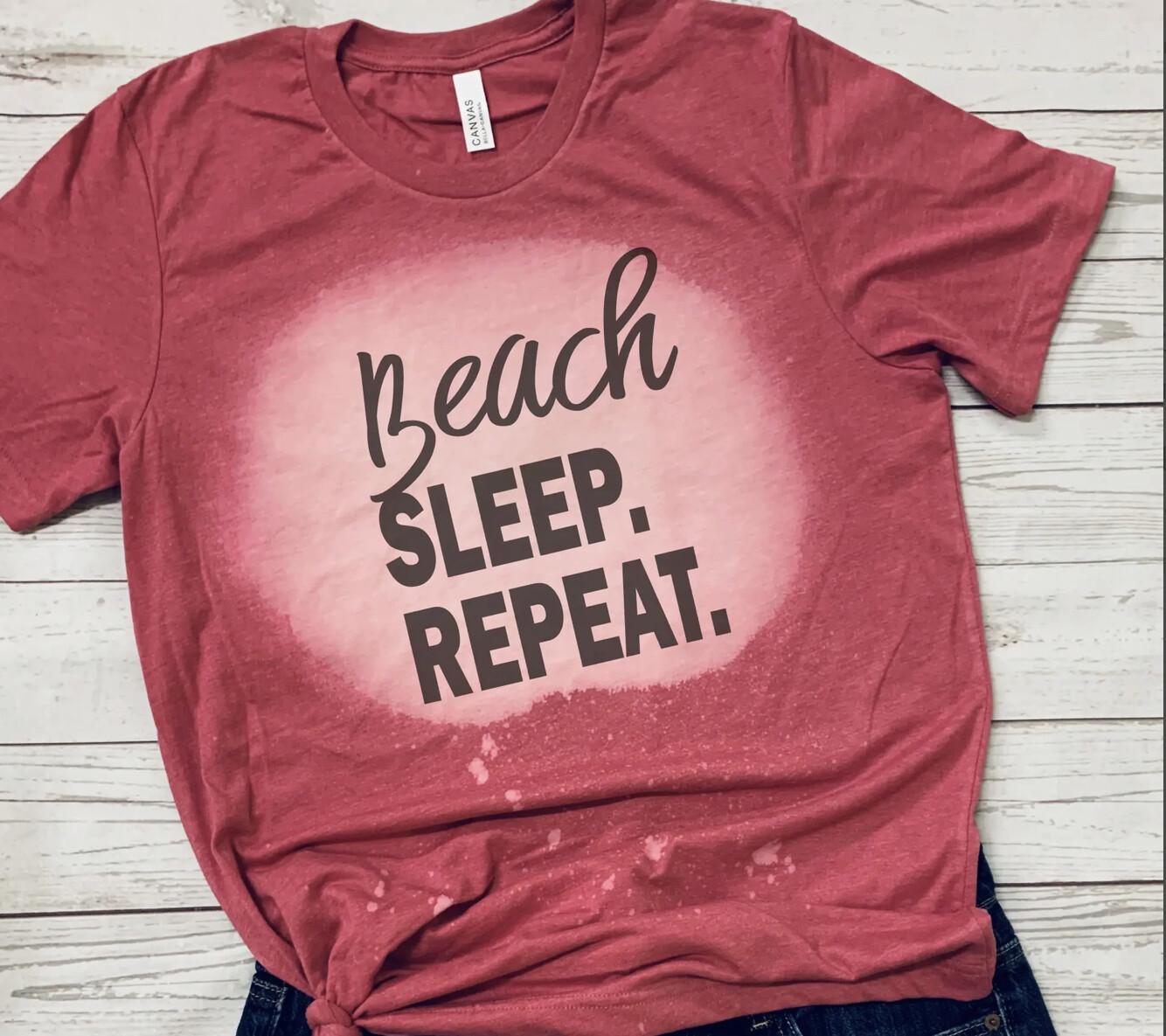 Beach Sleep Repeat Heather Raspberry