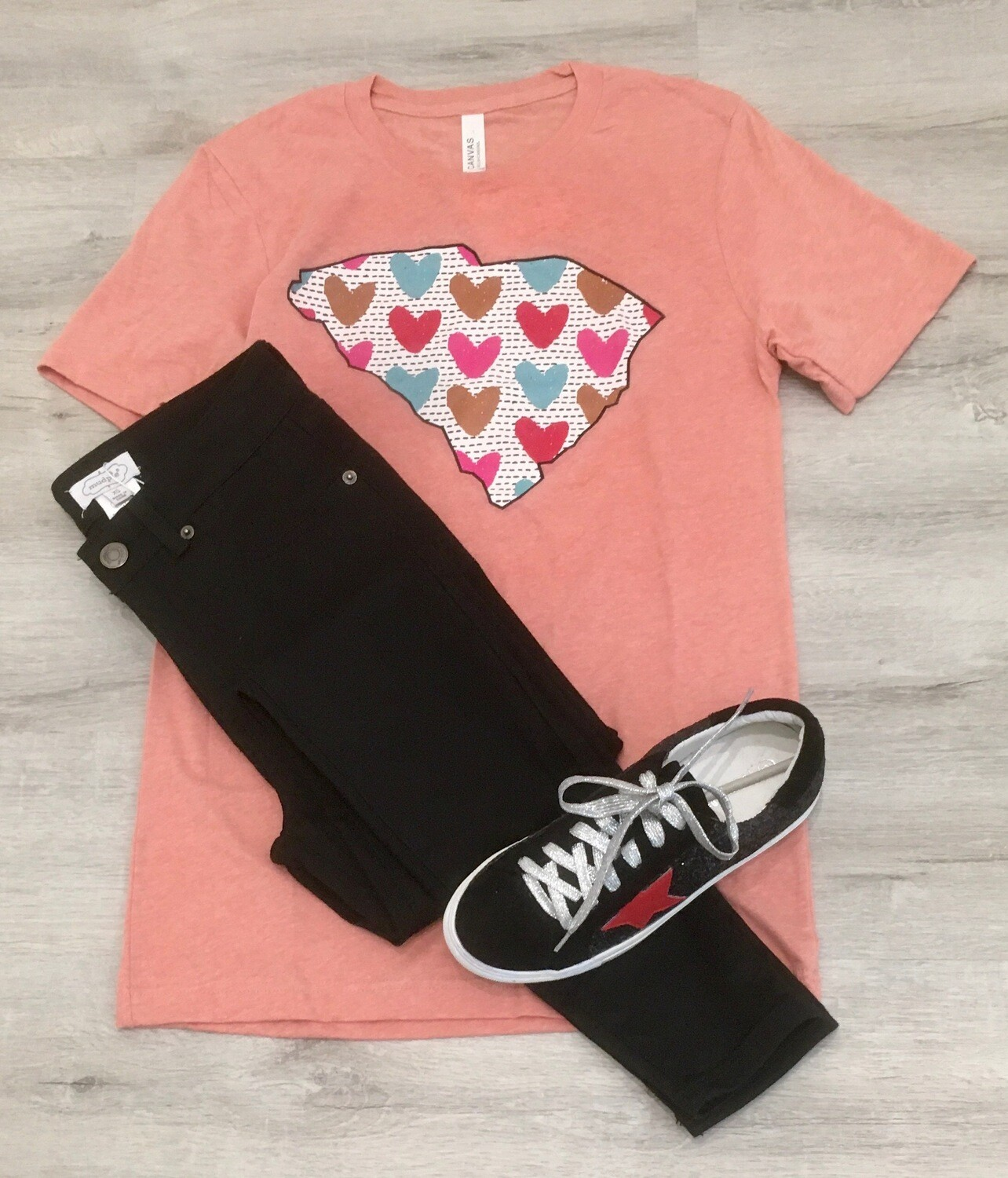 SC State Heart Graphic Tee