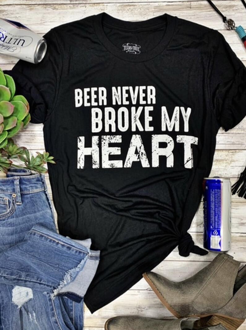 Beer Never Broke My Heart Vneck Tee