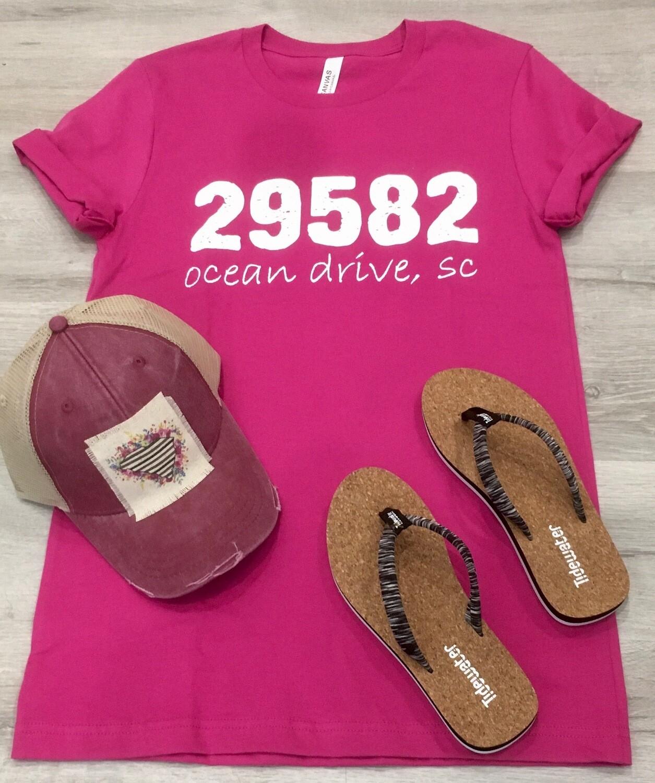 Ocean Drive Zip Code Tee