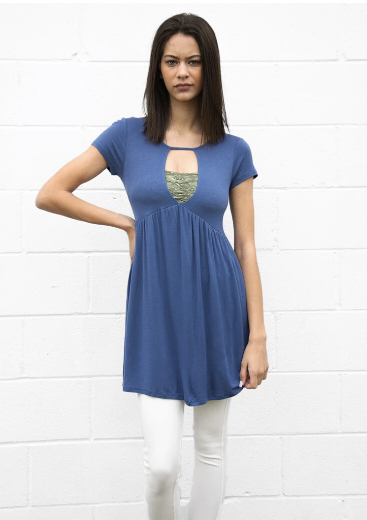 Baby Doll dress with keyhole inset