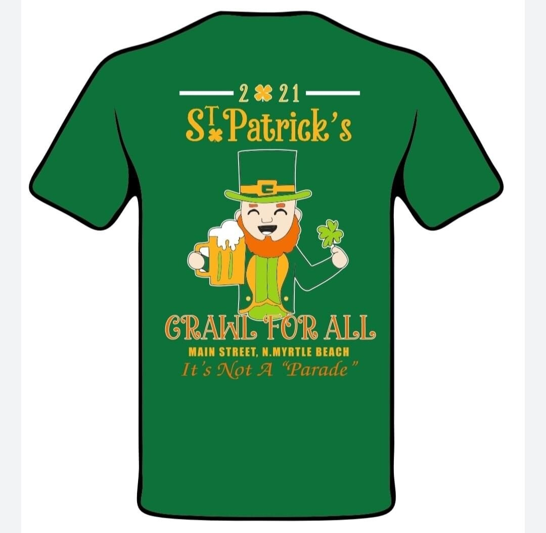 """2021 St Patrick's Day """"Crawl for All"""" tee"""