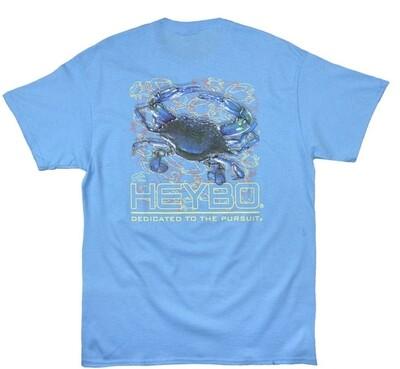 Heybo Blue Crab short sleeve tee