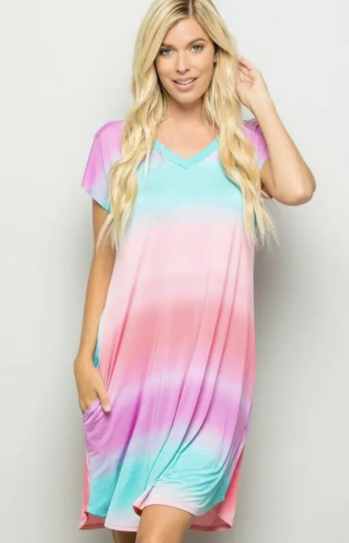 Hemish Ombré print dress