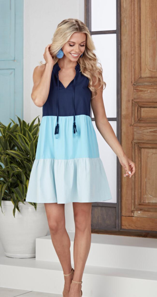 Mudpie McKenna colorblock dress