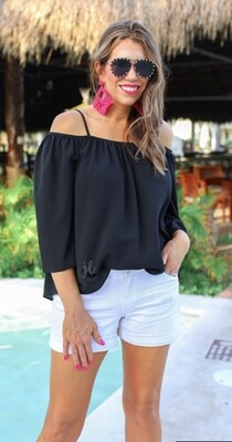 Charlotte Cold Shoulder Top