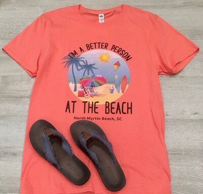 I Am A Better Person At the Beach tee