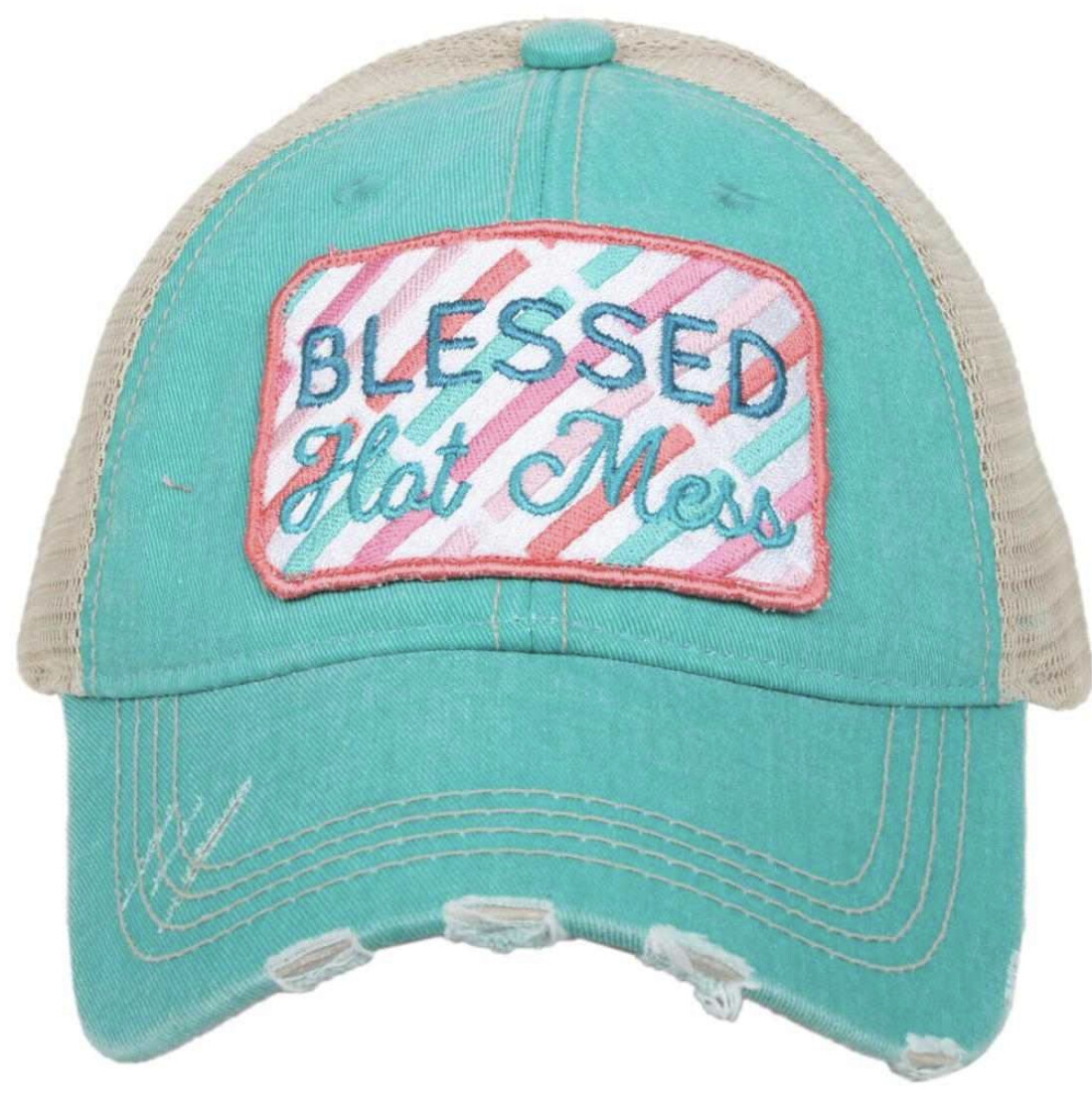 Blessed Hot Mess Patch Trucker Hat