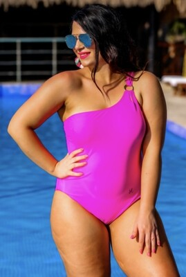 Rule the Pool one Shoulder Swimsuit