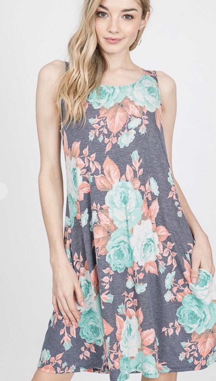 Heimish sleeveless floral print dress