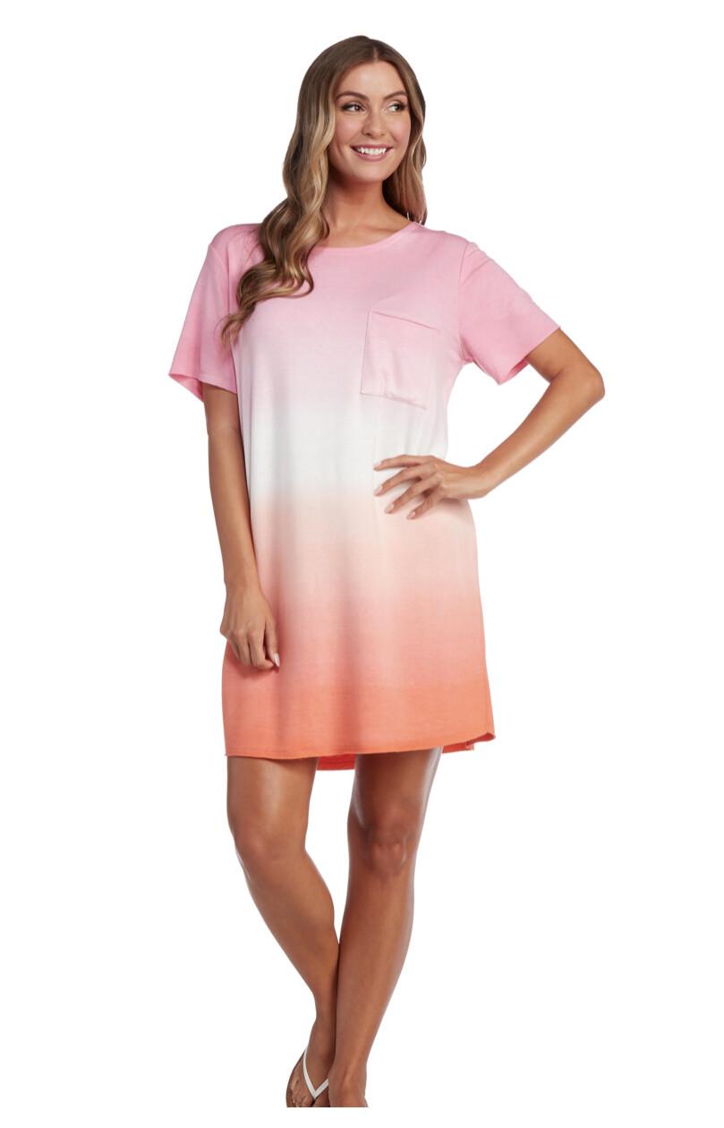 Mud Pie Cleo Pink Tie Dye Dress