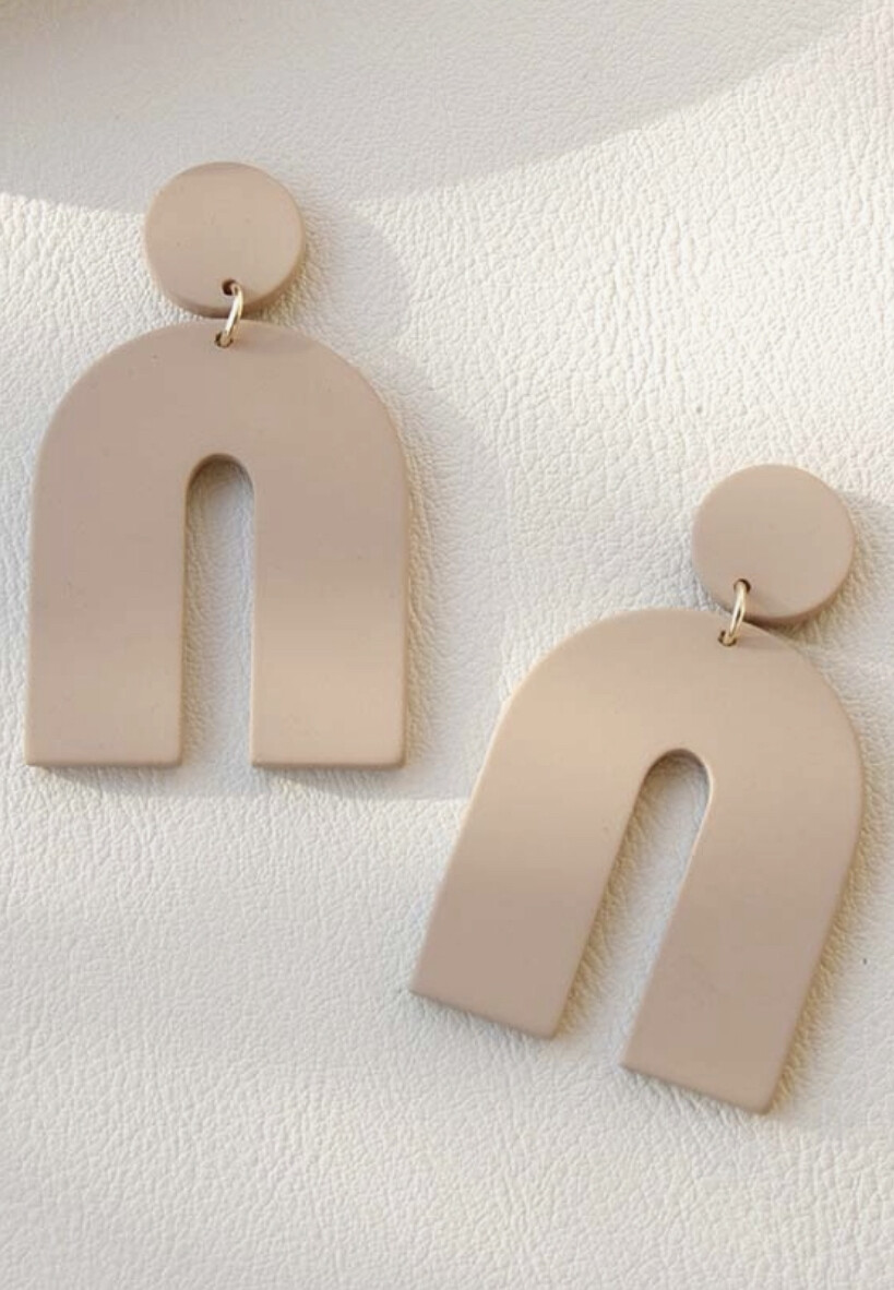 Clay Arch Shape Earrings