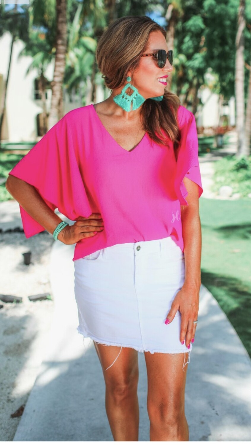Jess Lea Brittany Flutter sleeve top