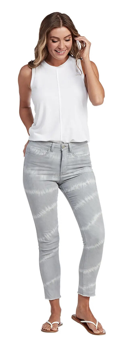 Mud Pie Rory Gray Tie Dye Jeans