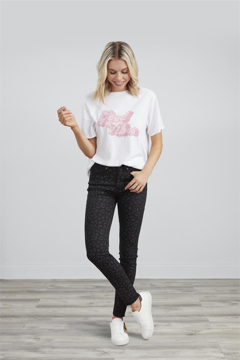 Mudpie Wylie Printed Jeans