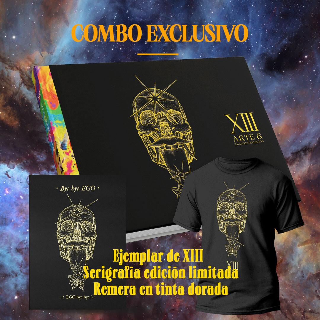 COMBO XIII EDICION LIMITADA: LIBRO + SERIGRAFIA en tinta dorada