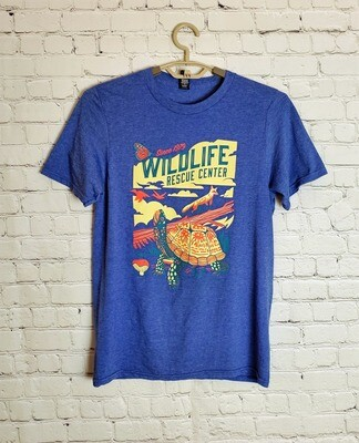 Biodiversity Adult Short Sleeve Tee (Heather Blue)