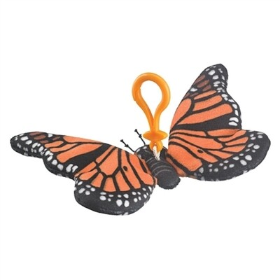"4"" Monarch Plush Keychain by Wildlife Artists"