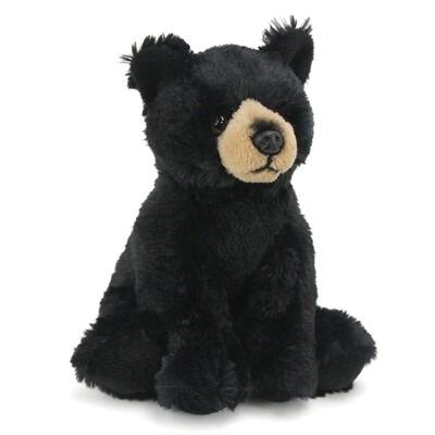 "8"" Black Bear Plush by Wildlife Artists"