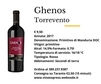 Ghenos Primitivo di Manduria DOC Torrevento