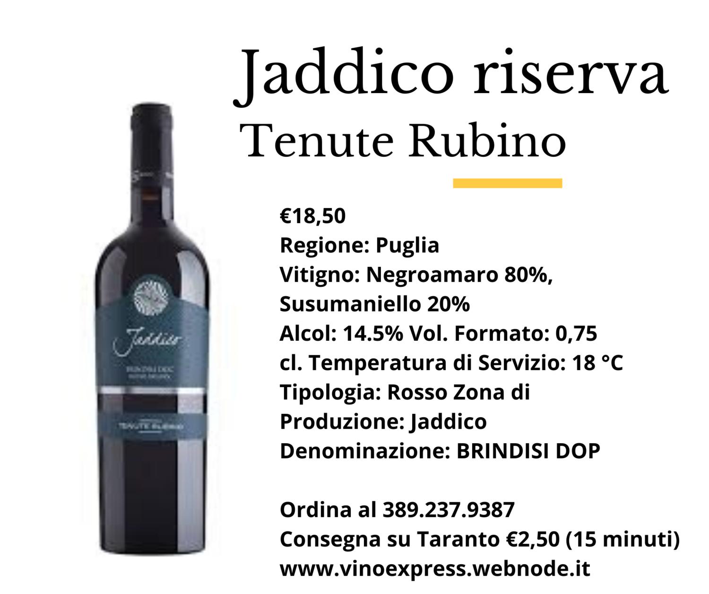 Jaddico Riserva Tenute Rubino