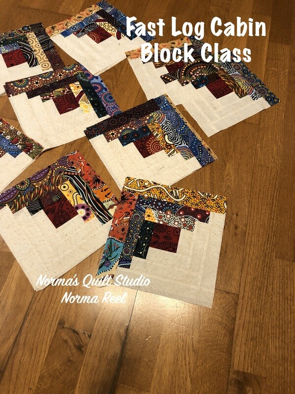 Fast Log Cabin Blocks -Pre-Recorded Class