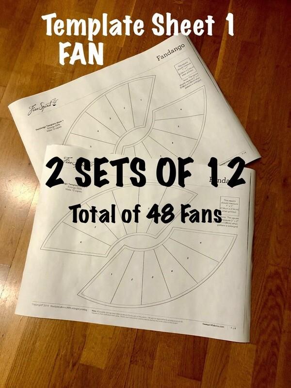 FAN TEMPLATE - Two Sets of 12 (48 Fans) -- Template Sheet 1