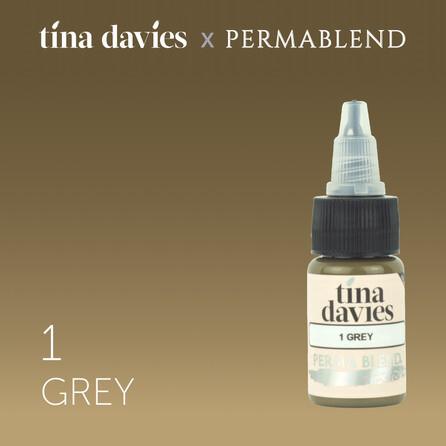 """Пигмент для татуажа бровей """"Tina Davies 'I Love INK' 1 Grey"""""""