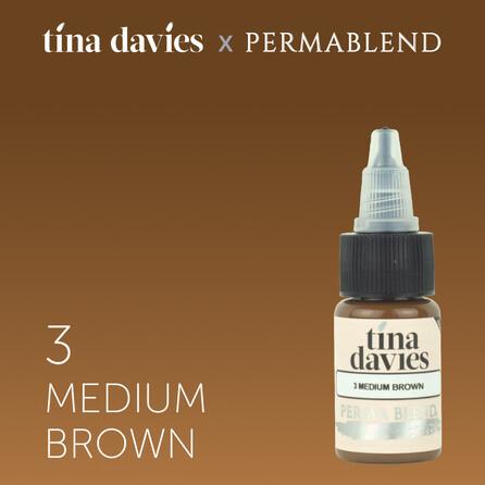 """Пигмент для татуажа бровей """"Tina Davies 'I Love INK' 3 Medium Brown"""""""