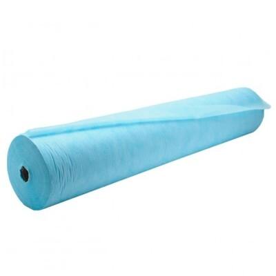 Простыни в рулоне одноразовые голубые 70*200