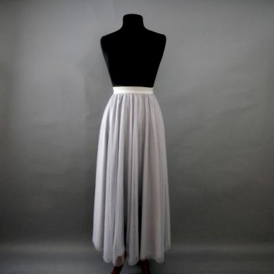 Grey Long Tulle Skirt