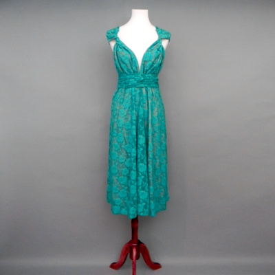 Calista Teal Lace Infinity Midi