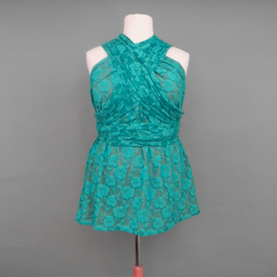 Calista Teal Lace Infinity Top