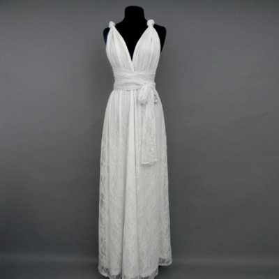 Calista White Lace Infinity Maxi