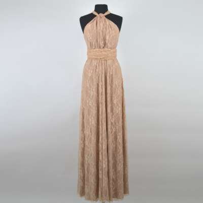 Calista Champagne Lace Infinity Maxi