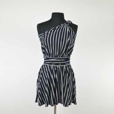 Calista Petite Navy Stripe Infinity Top