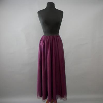 Purple Long Tulle Skirt