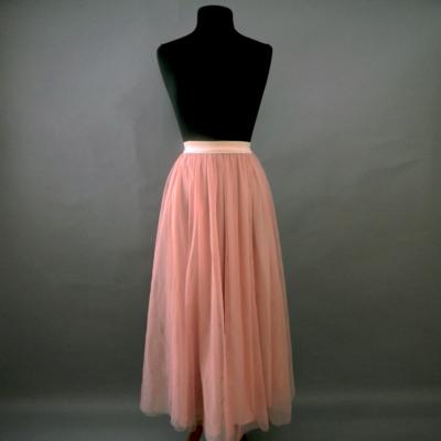 Blush Long Tulle Skirt
