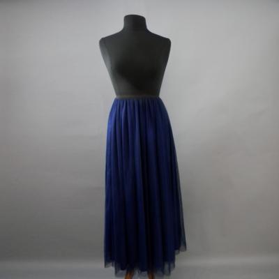 Navy Blue Long Tulle Skirt
