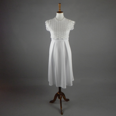 Dainty Dress with Lace Collar