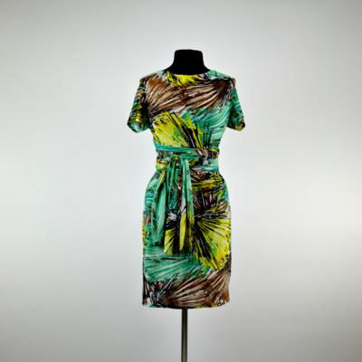 Tropical Green Short Wrap Dress