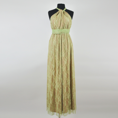 Calista Honeydew Lace Infinity Maxi