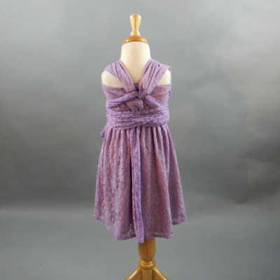 Flowergirl Lilac Lace Infinity Dress