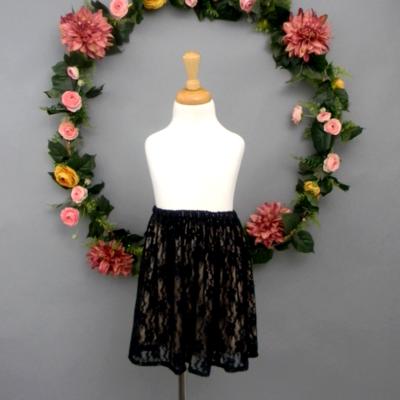 Black Lace Girl's Skirt