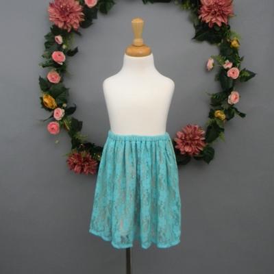 Aquamarine Lace Girl's Skirt