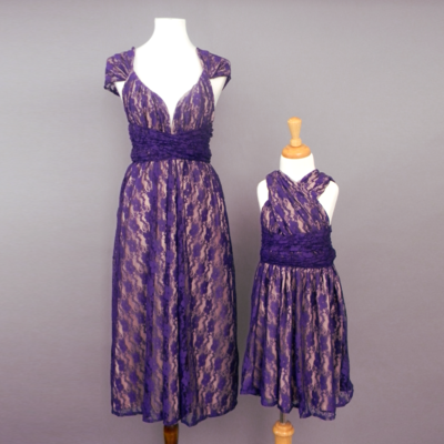 Flowergirl Purple Lace Infinity Dress